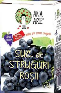 Suc de struguri rosii 100% natural 3L - Ana are