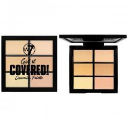Paleta Anti-Cearcane cu 6 Corectoare Cremoase W7 Got It Covered Concealer Palette, 6g0