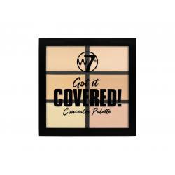 Paleta Anti-Cearcane cu 6 Corectoare Cremoase W7 Got It Covered Concealer Palette, 6g1