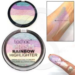Paleta Iluminatoare Multicolora TECHNIC Prism Rainbow Highlighter Powder, 6g2