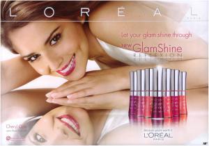 Gloss L'oreal Glam Shine Reflexion - 175 Sheer Papaya1