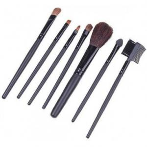 Set 7 Pensule Profesionale pentru machiaj - Silk Black2