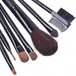 Set 7 Pensule Profesionale pentru machiaj - Silk Black0