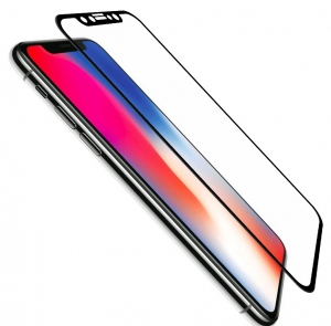 Folie de Sticla Cold Carving 5D Negru IPhone X tempered glass