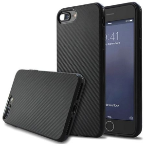 Husa iPhone 8 Plus TPU Aspect Carbon Negru