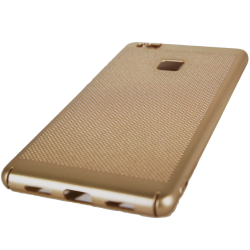 Husa Huawei P9 Lite Tpu Perforat Gold1
