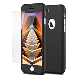 Husa 360 iPhone 7 Fullcover Silicon Negru0