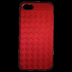 Husa iPhone 7  Efect 3D TPU Moale Rosu