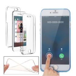 Husa 360 iPhone 7 plus 360 Silicon Transparent Fullcover