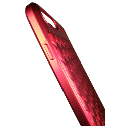 Husa iPhone 7 Plus Efect 3D TPU Moale Rosu