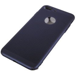 Husa iPhone 7 plus TPU Perforat Bleumarin