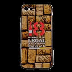 Husa iPhone 7 TPU Negru Print Mesaj 3D