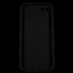 """Husa iPhone 7 TPU Negru Print Mesaj 3D """"Ai bani love story n-ai bani i'm sorry"""""""