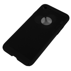 Husa iPhone 7 TPU Perforat Negru