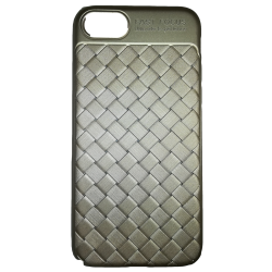 Husa iPhone 8  Efect 3D Tpu Moale Auriu