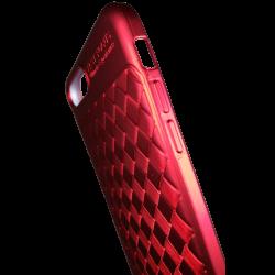 Husa iPhone 8 Plus Efect 3D Tpu Moale Rosu