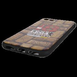 Husa iPhone 8 TPU Negru Print Mesaj 3D