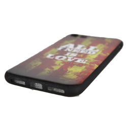 "Husa iPhone 8 TPU Negru Print Mesaj 3D ""All i need is wifi"""