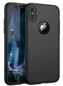 Husa iPhone X 360 Fullcover Silicon Negru