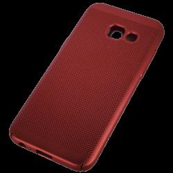 Husa Samsung Galaxy A3 2017 TPU Rosu Perforat1