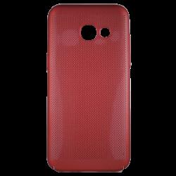 Husa Samsung Galaxy A3 2017 TPU Rosu Perforat0