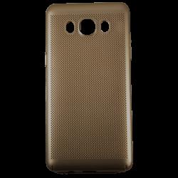Husa Samsung Galaxy J5 2016 TPU Perforat Gold0