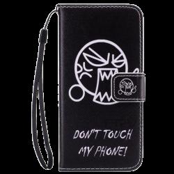 Husa Samsung Galaxy j5 2017 flip wallet carte Desen 3D Negru0