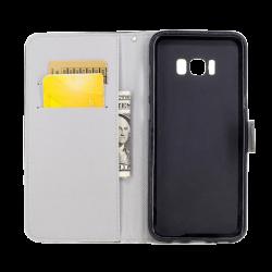 Husa Samsung Galaxy j5 2017 flip wallet carte Desen 3D Negru1