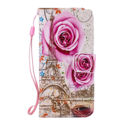 Husa Samsung Galaxy j5 2017 flip wallet carte Desen 3d Roz