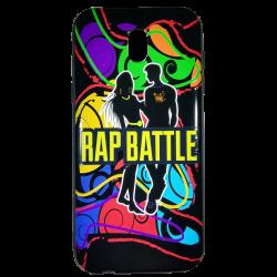 Husa Samsung Galaxy  j5 2017 husa flippy 3d print mesaj ''rap battle!