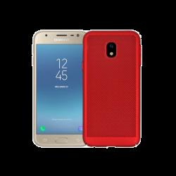 Husa Samsung Galaxy J5 2017 Perforat Rosu Tpu