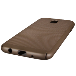 Husa Samsung Galaxy J7 2017 TPU Perforat Gold1