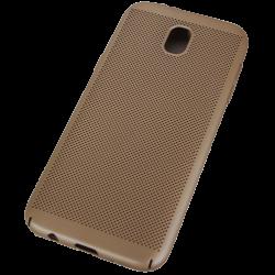 Husa Samsung Galaxy J7 2017 TPU Perforat Gold0
