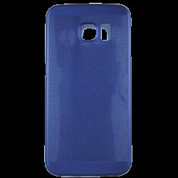 Husa Samsung Galaxy S6 EDGE TPU Perforat Bleumarin