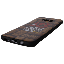 "Husa Samsung Galaxy S8 Plus TPU Negru Print Mesaj 3D ""18 acum pot sa fac legal ceea ce faceam la 13 ani """