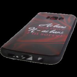 Husa Samsung Galaxy S8 Plus TPU Negru Print Mesaj 3D