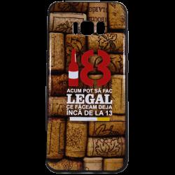 "Husa Samsung Galaxy S8 TPU Negru Print Mesaj 3D ""18 acum pot sa fac legal ceea ce faceam la 13 ani """