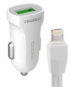 Incarcator Auto F-C15 FineBlue 1000mA  cu un port USB+ CABLU IOS