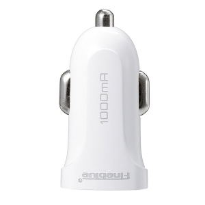 Incarcator Auto FineBlue f-uc01 2 porturi USB 2.1A ALB Negru