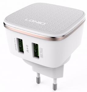 Incarcator de perete LDNIO DL-AC66 portabil cu 2 porturi USB + cablu Android