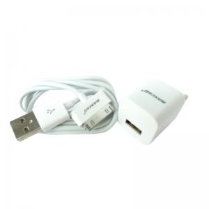 Incarcator perete Maxcell 1A 5V +cablu usb iOS 4