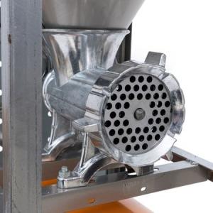 Masina Tocat Carne Nr.32 Aluminiu, Motor Electric 900W URAL, Palnie Mare si Masa Inox2