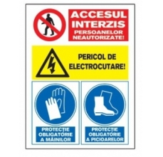 Tablite avertizare A40