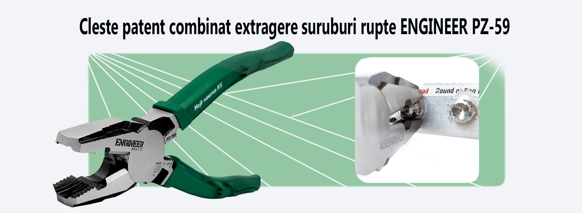 Cleste-patent-combinat-extragere-suruburi-rupte-ENGINEER-PZ-59