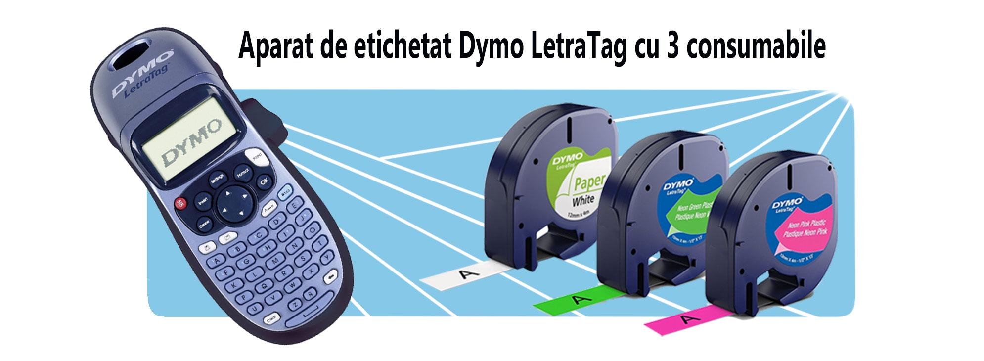 Aparat-de-etichetat-Dymo-LetraTag-cu-3-consumabile