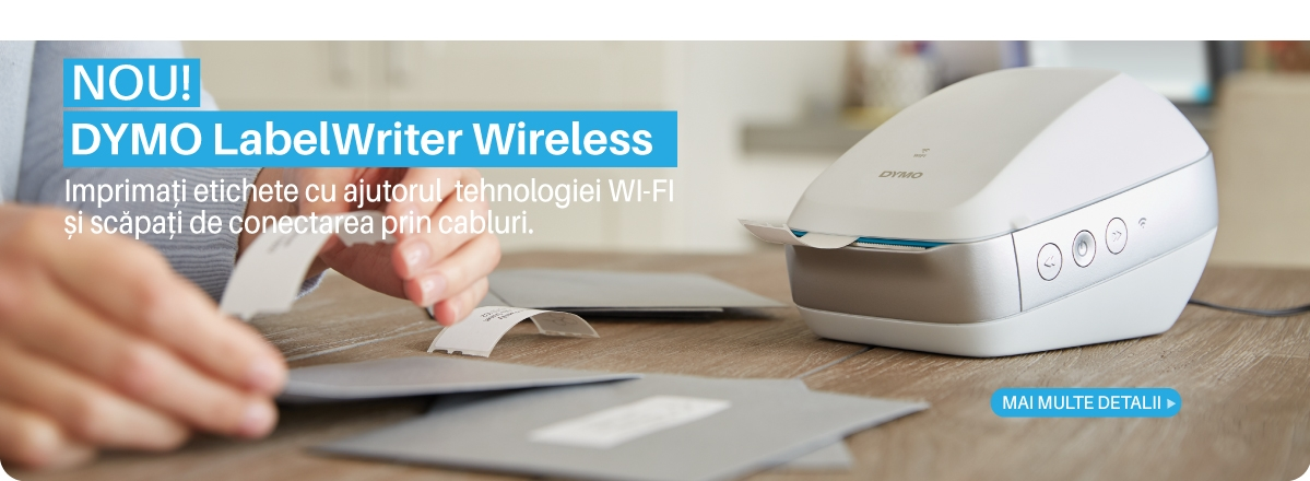 DYMO Label;Writer Wireless - aparat de etichetat cu conectare Wi-Fi