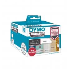 Etichete DYMO Durable LabelWriter din plastic alb, multifunctionale. (dimensiuni 25 mm x 25 mm) 1.700buc/rola0