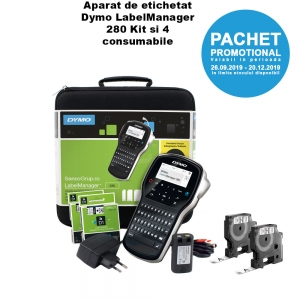 Dymo LabelManager 280 Kit Label Printer and 4 supplies S09689907
