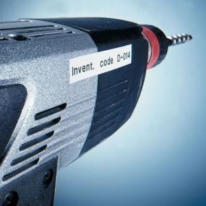 Etichete autocolante plastifiate, DYMO LabelManager D1, 19mm x 7m, negru/alb, 10 buc/set, DY45803 S0720830 20930985