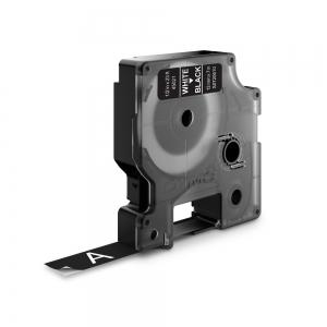 Banda D1 12 mm x 7 m, alb / negru, DYMO cod DY 45021